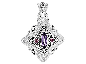 Pre-Owned Purple Amethyst Silver Pendant 3.43ctw