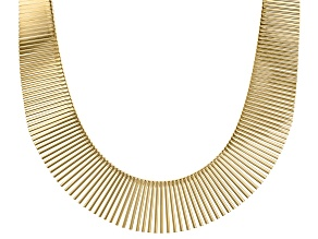 Pre-Owned Moda Al Massimo™ 18K Yellow Gold Over Bronze 1.03MM-0.23MM Graduated Cleopatra 18 Inch Nec