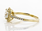Pre-Owned White Cubic Zirconia 10K Yellow Gold Center Design Ring 2.85ctw