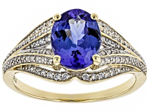 Pre-Owned Blue Tanzanite 10k Yellow Gold Ring 1.77ctw