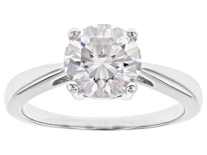 Pre-Owned Moissanite Platineve Ring 1.90ct DEW