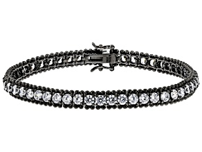 Pre-Owned White Cubic Zirconia Black Rhodium Over Sterling Silver Bracelet 7.65ctw