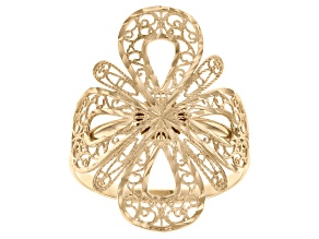 Pre-Owned 10k Yellow Gold Clover Ring