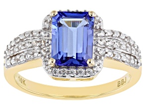 Pre-Owned Blue Tanzanite 10k Yellow Gold Ring 1.35ctw