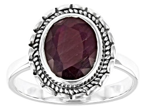 Pre-Owned Red Ruby Sterling Silver Ring 1.72ctw
