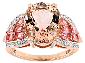 Pre-Owned Pink Cor De Rosa™ Morganite 10k Rose Gold Ring 4.73ctw