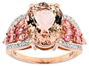 Pre-Owned Pink Cor De Rosa™ Morganite 10k Rose Gold Ring 4.73ctw