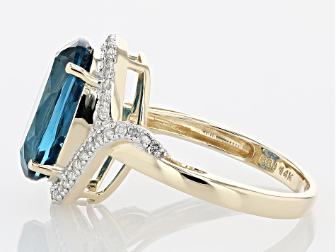 Pre-Owned London Blue Topaz 14k Yellow Gold Ring 6.69ctw