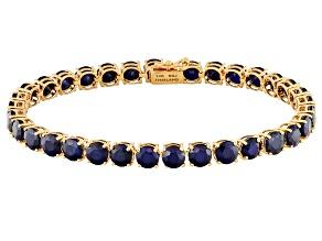 Pre-Owned Blue Sapphire 14k Rose Gold Bracelet 19.63ctw