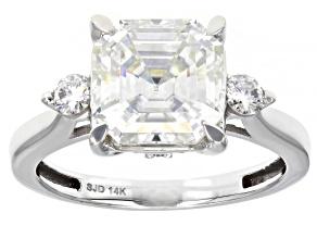 Pre-Owned Moissanite 14K white gold ring 4.38ctw DEW.