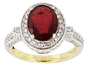 Pre-Owned Mahaleo Ruby 10k Yellow Gold 4.28ctw