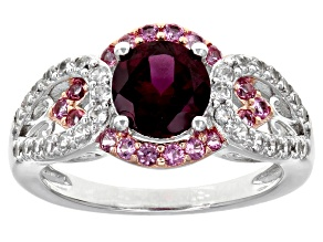 Pre-Owned Purple Rhodolite Sterling Silver Ring 2.03ctw