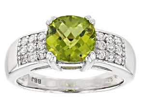 Pre-Owned Green Arizona Peridot Sterling Silver Ring 2.03ctw