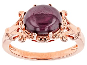 Pre-Owned Red indian Ruby Copper Ring 3.68ctw