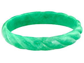 Pre-Owned Green Jadeite Bangle Bracelet