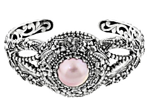 Pre-Owned Cultured Pearl Mabe Sterling Silver Cuff Bracelet