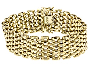 Pre-Owned 10K Yellow Gold High Polished Panther Link Bracelet