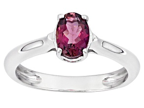 Pre-Owned Pink Rubellite Sterling Silver Ring .59ct