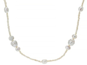 Pre-Owned White Cultured Freshwater Pearl 60 Inch Endless Strand Necklace 3-11mm