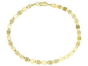 Pre-Owned 10k Yellow Gold 3.3MM Designer Link Bracelet