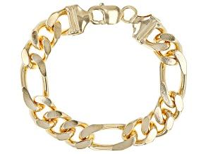 Pre-Owned Moda Al Massimo™ 18K Yellow Gold Over Bronze 14MM Figaro Bracelet