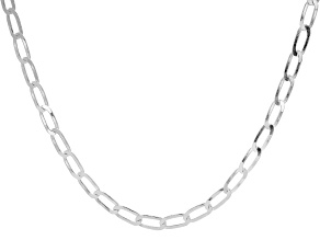 Pre-Owned Sterling Silver 20 Inch Curb Necklace
