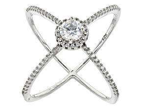 Pre-Owned Cubic Zirconia Rhodium Over Sterling Silver Ring 1.25ctw