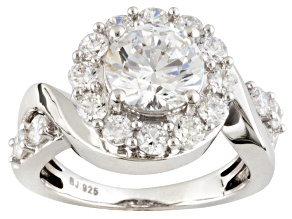 Pre-Owned Cubic Zirconia Rhodium Over Sterling Silver Ring 5.45ctw