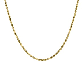Pre-Owned 14k Yellow Gold 1MM Polished Rope 20 inch Necklace