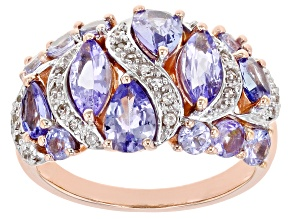 Pre-Owned Blue Tanzanite 18k Rose Gold Over Silver Ring 2.41ctw
