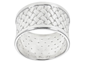 Pre-Owned Sterling Silver Woven Band Ring