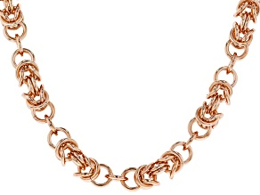 Pre-Owned Copper Byzantine Link Necklace