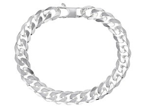 "Pre-Owned Sterling Silver 8.5"" Curb Bracelet"