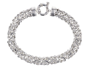 Pre-Owned Sterling Silver 7MM Byzantine Link Bracelet