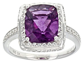 Pre-Owned Purple Fluorite Sterling Silver Ring 4.46ctw