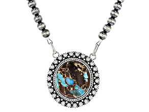 Pre-Owned Turquoise Kingman Sterling Silver Necklace