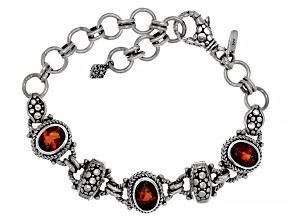 Pre-Owned Madeira Citrine Sterling Silver Bracelet 3.84ctw