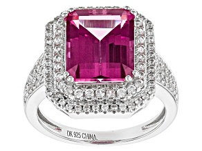 Pre-Owned Pink Danburite Sterling Silver Ring 4.31ctw
