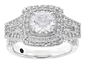 Pre-Owned White Cubic Zirconia Platineve Ring 4.41ctw