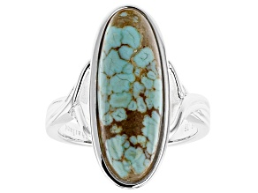 Pre-Owned Blue #8 Turquoise Sterling Silver Ring