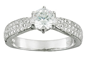 Pre-Owned Cubic Zirconia Rhodium Over Silver Ring 1.77ctw