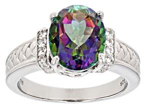 Pre-Owned Multicolor Mystic Topaz® Sterling Silver Ring 3.95ctw