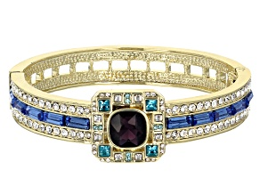 Pre-Owned Gold Tone Crystal Bracelet