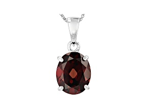 Pre-Owned Brown Zircon Sterling Silver Pendant With Chain 5.00ct