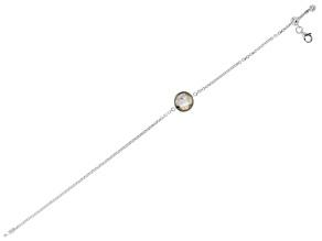Pre-Owned Gray Labradorite Sterling Silver Bracelet 4.22ctw