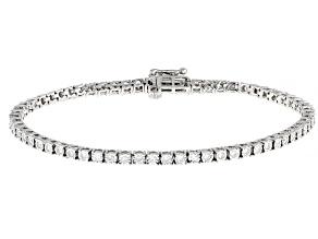 Pre-Owned White Diamond 10K White Gold Tennis Bracelet 1.00ctw