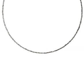 Pre-Owned Stainless Steel With Sterling Silver Beads Wire Collar