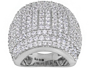 Pre-Owned Cubic Zirconia Silver Ring 5.42ctw
