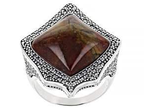 Pre-Owned Moroccan Jasper Sterling Silver Ring