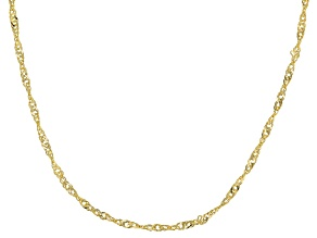 Pre-Owned 14k Yellow Gold Polished Singapore 20 inch Necklace